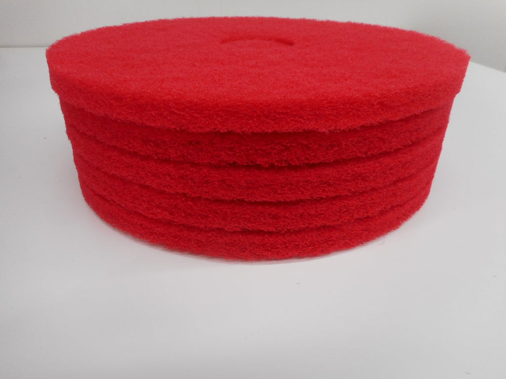 "16"" Red floor cleaning pads for Floor machine or Scrubber"