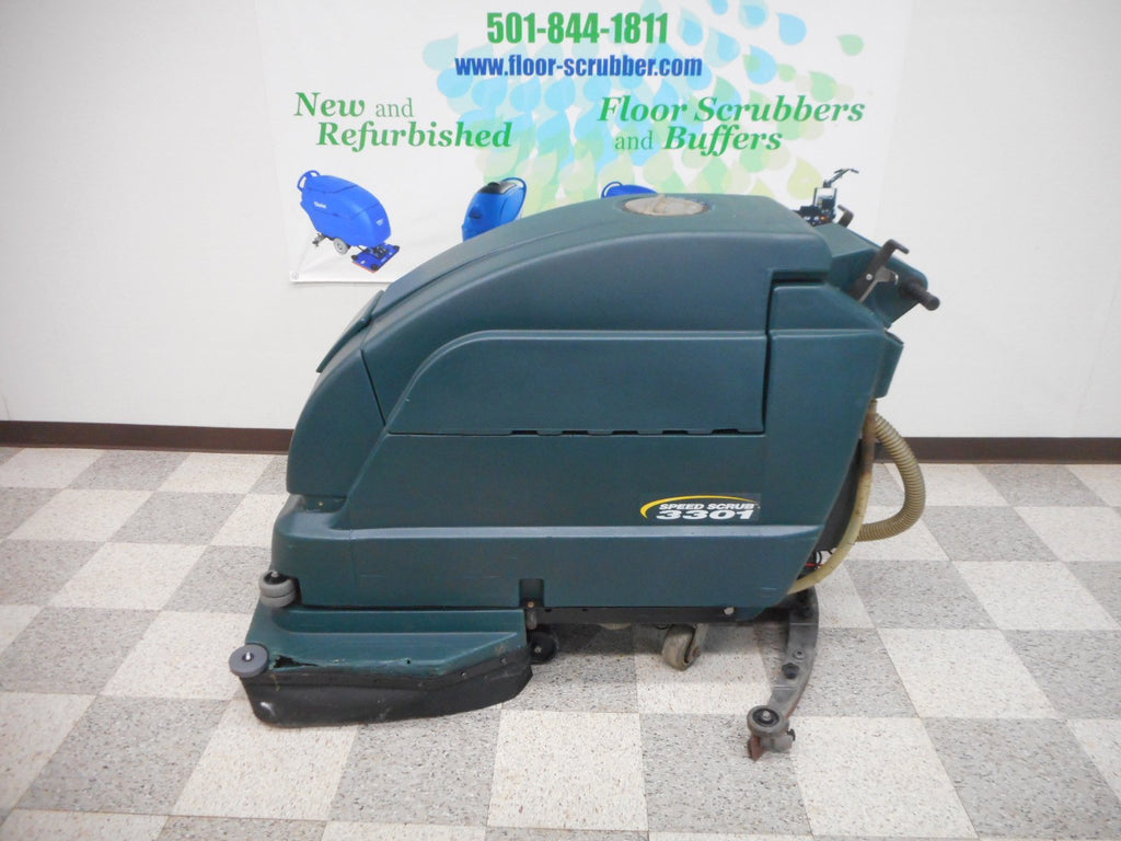 Left side of a nobles 3301 floor scrubber used refurbished