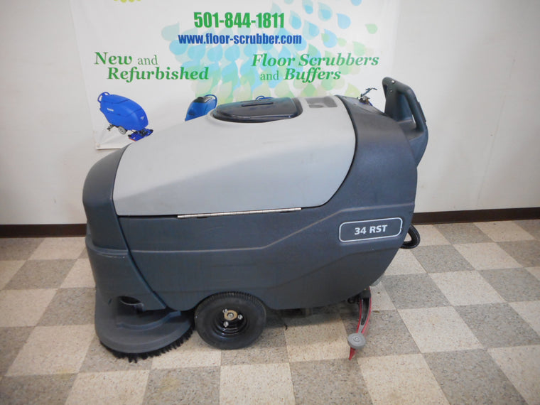 left side of advance 34rst automatic floor scrubber for warehouse