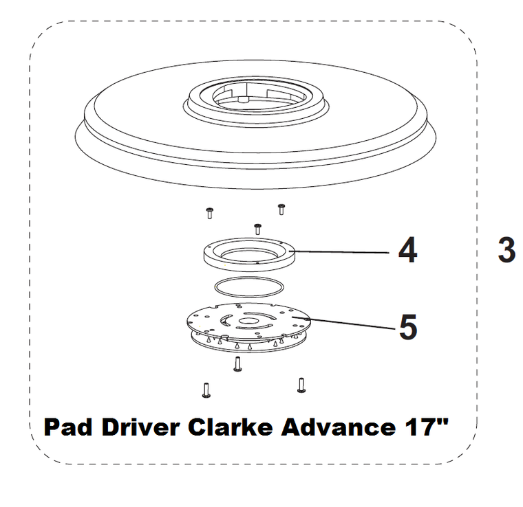 "Clarke Advance L08837017 PAD HOLDER 17"" COMPLETE"
