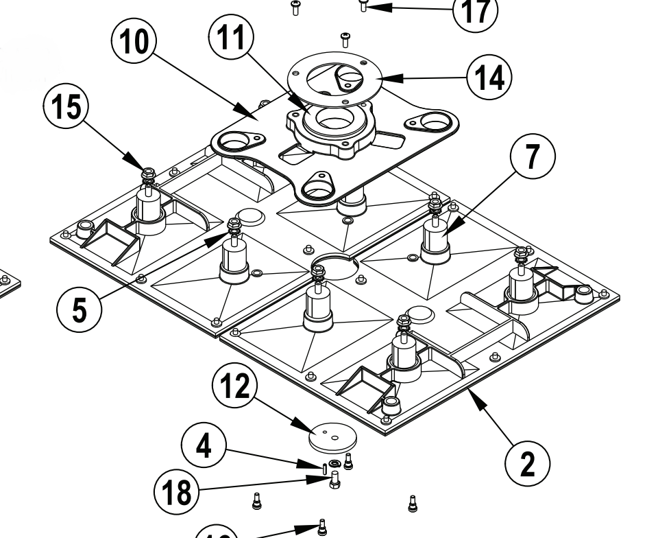 Clarke Advance  56383377 KIT FLEX PLATE 20