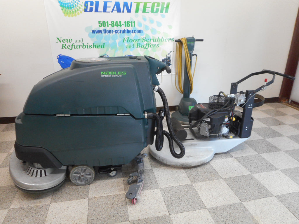 Nobles ss5 refurbished floor scrubber and propane buffer and side by side slow speed