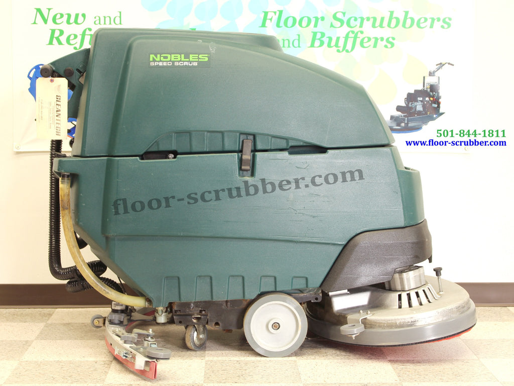 "side view of nobles ss5 32"" used floor scrubber."