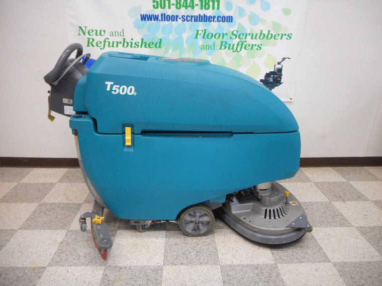 Tennant T500e floor scrubber machine