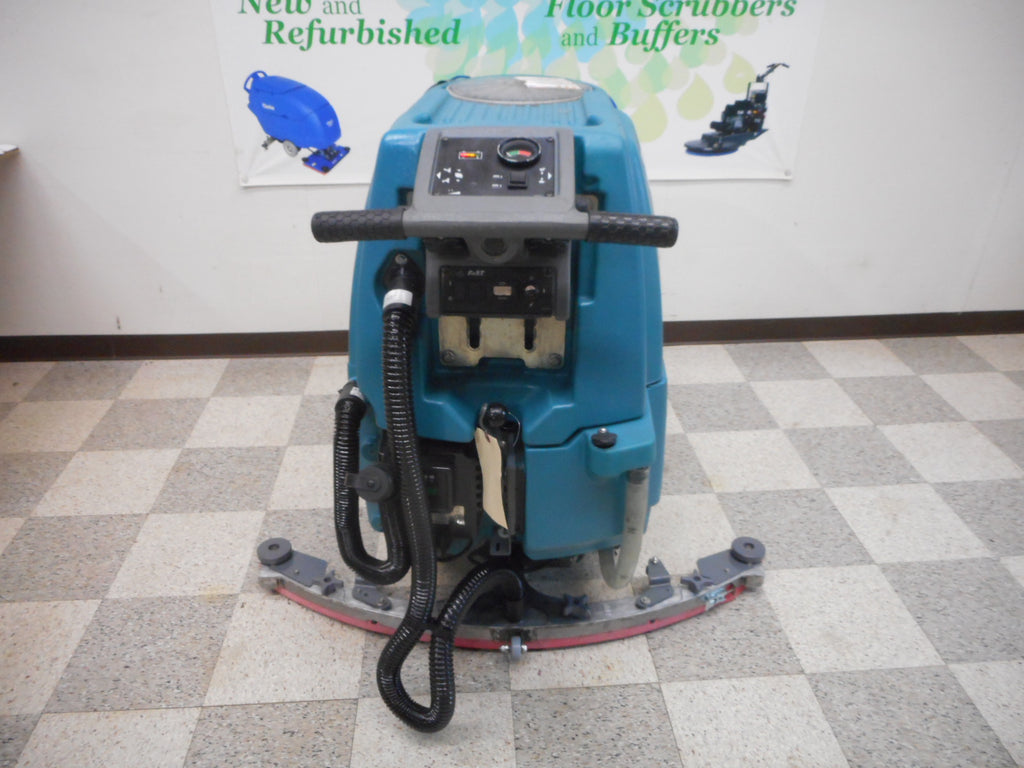 Used tennant floor scrubber walk behind