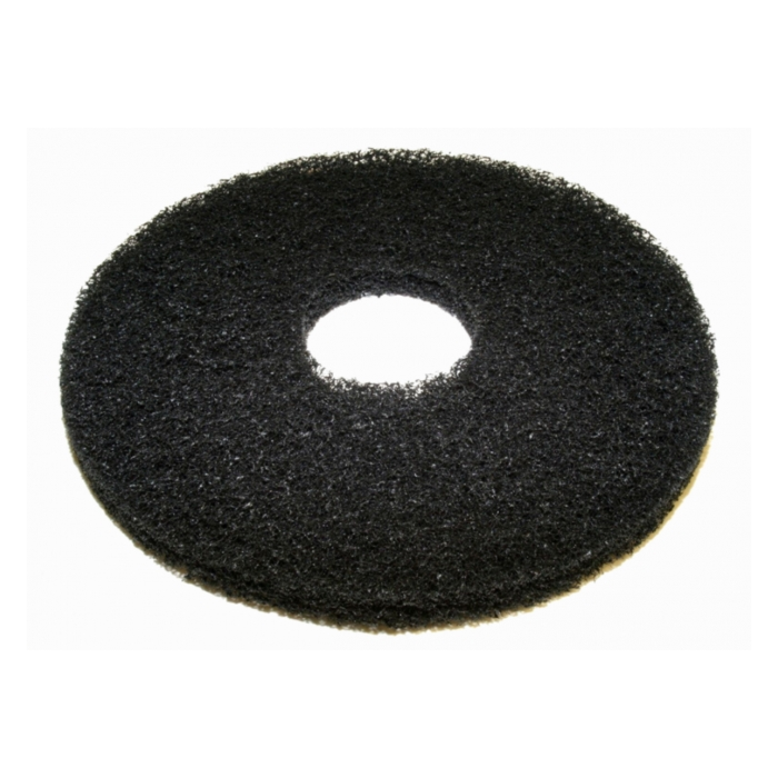 "12"" black stripping pads case of 5"
