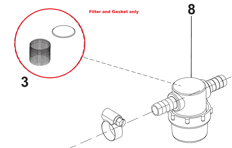 L08603893 KIT NET FILTER WITH GASKET