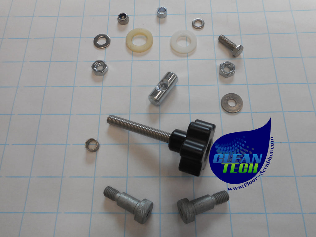 909 6885 000 clarke focus II hardware fixing kit.  knobs bolts nuts washers