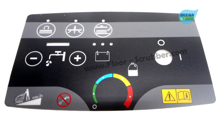 Clarke Control Panel Decal, 9097025000