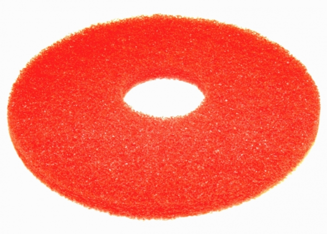 "12"" red floor scrubber pads"