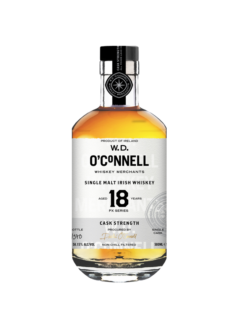 WD O'Connell 18 Year Old Cask Strength 50ml