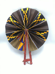 Ebony Kente Fan