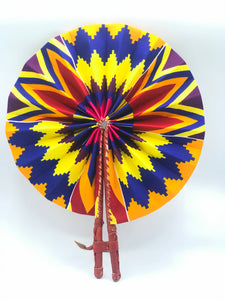 Colourful Kente Fan