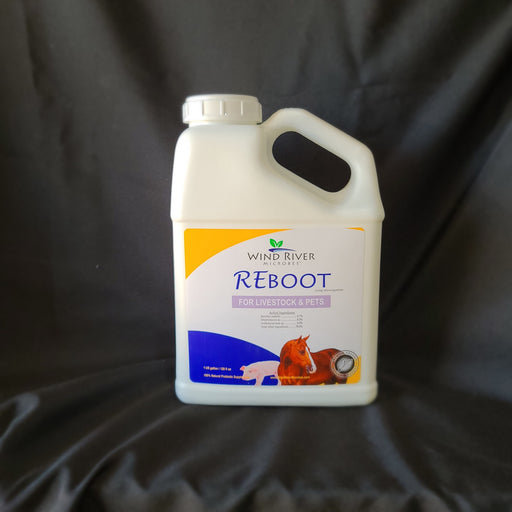 REboot - Pathogen Inhibitor & Livestock Growth Promotant - Wind River Microbes - Organic Microbes and Fertilizers for Plants, Trees, and Animals. Made in the USA.