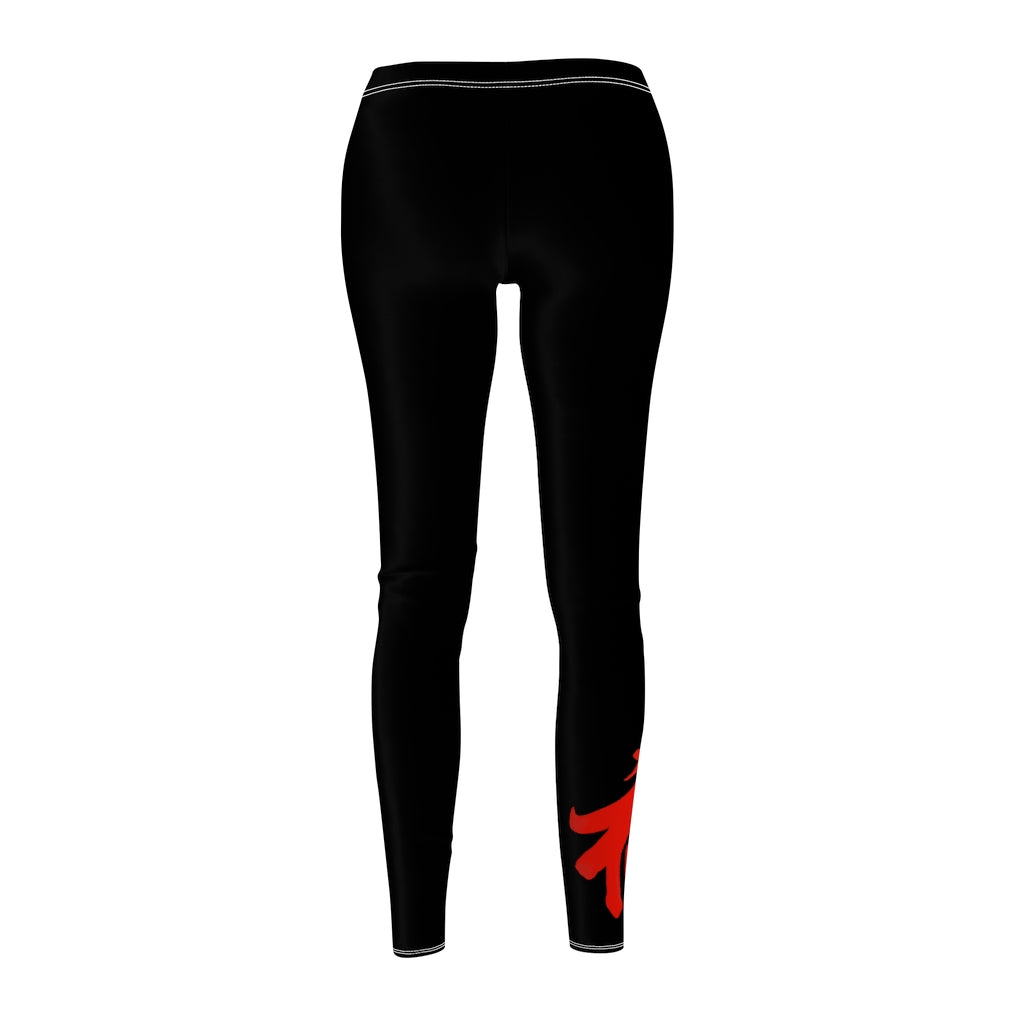 Women's Black Casual Leggings w/ Logo