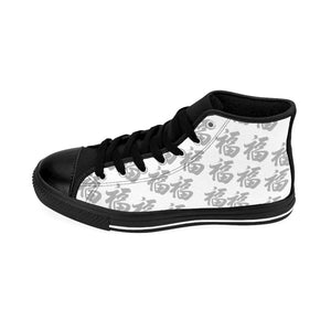 Women's Grey On White High-top Sneakers Multi Fu (Many Blessings)