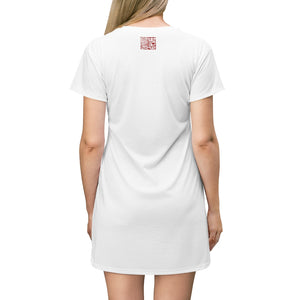 """It's All Good"" White T-Shirt Dress - Hao"