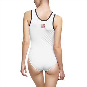 Women's White Classic One-Piece Swimsuit