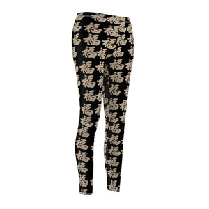 Women's Black Leggings Multi - FU
