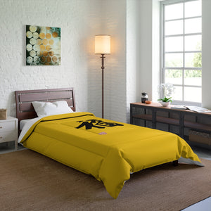 Yellow and Black FU Comforter