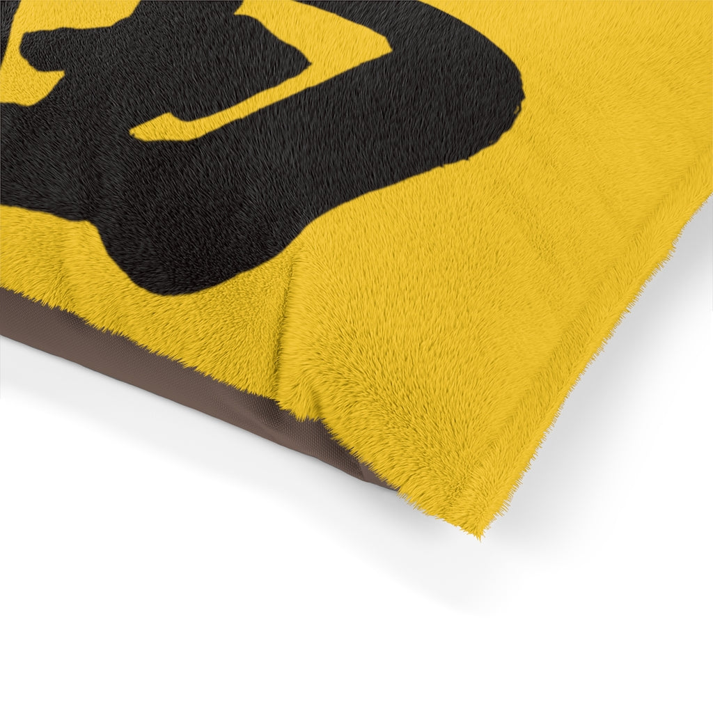 Yellow and Black FU Pet Bed