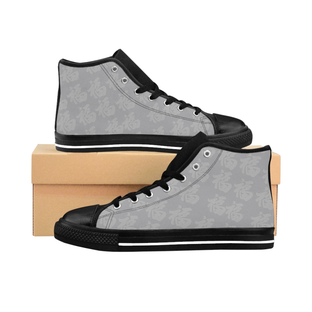 Women's Grey On Grey High-top Sneakers Multi Fu (Many Blessings)