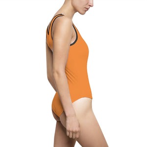 Women's Orange Classic One-Piece Swimsuit