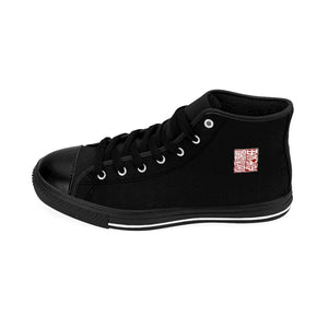 Men's Black High-top Sneakers