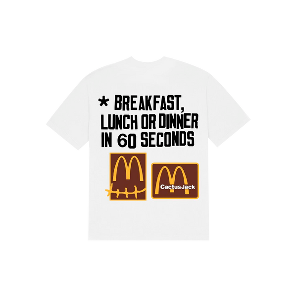"TRAVIS SCOTT x Mc Donalds - Camiseta 60 Seconds ""Branca"""