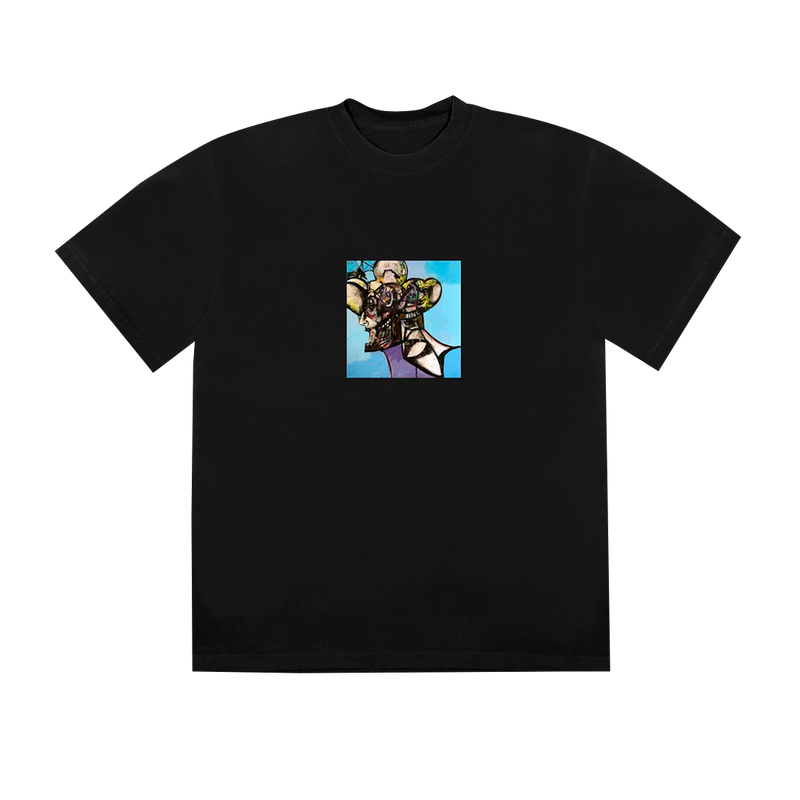 "TRAVIS SCOTT - Camiseta Portrait of Travis Tittle ""Preta"""