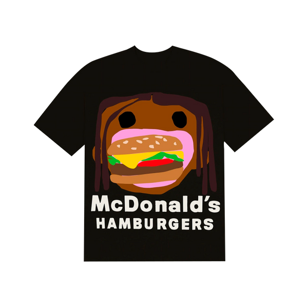 "TRAVIS SCOTT x CPFM - Camiseta 4 CJ Burger Mouth ""Preta"""