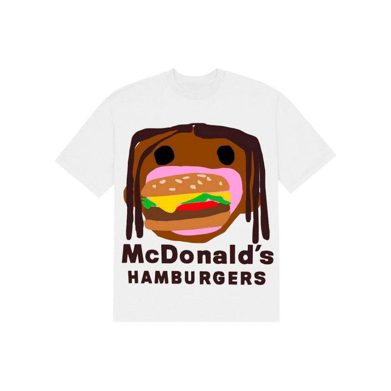 "TRAVIS SCOTT x CPFM - Camiseta 4 CJ Burger Mouth ""Branca"""