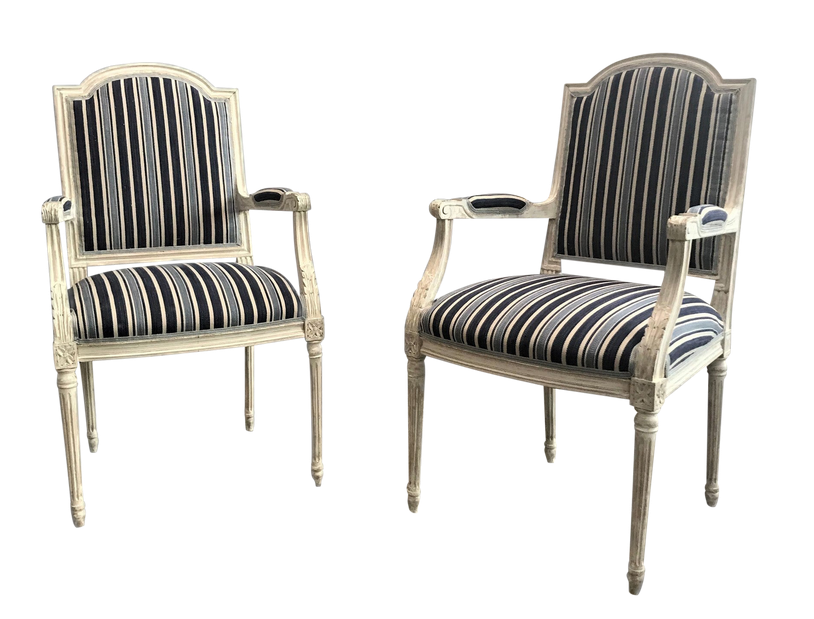 Late 19th Century Neoclassical Armchairs - Pair