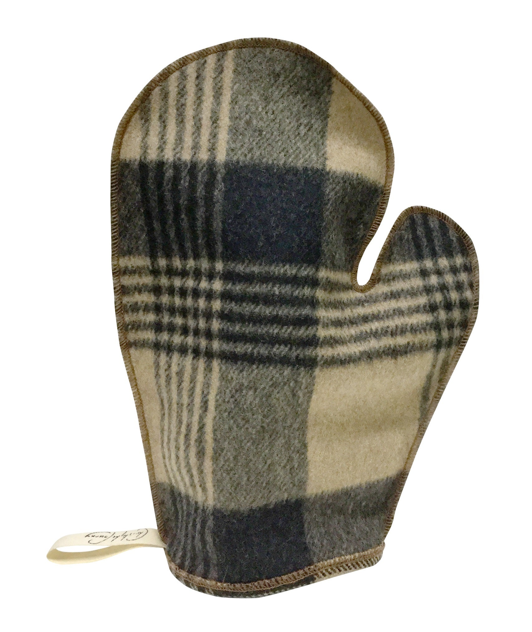 PLAID POLISHING MITT