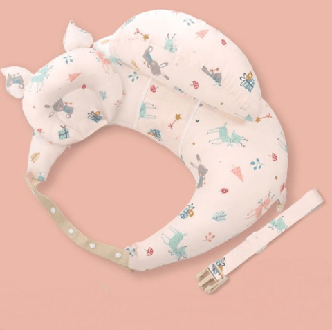 Coussin allaitement pale animaux rose
