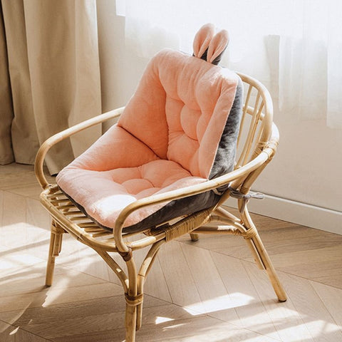 Coussin chaise rose