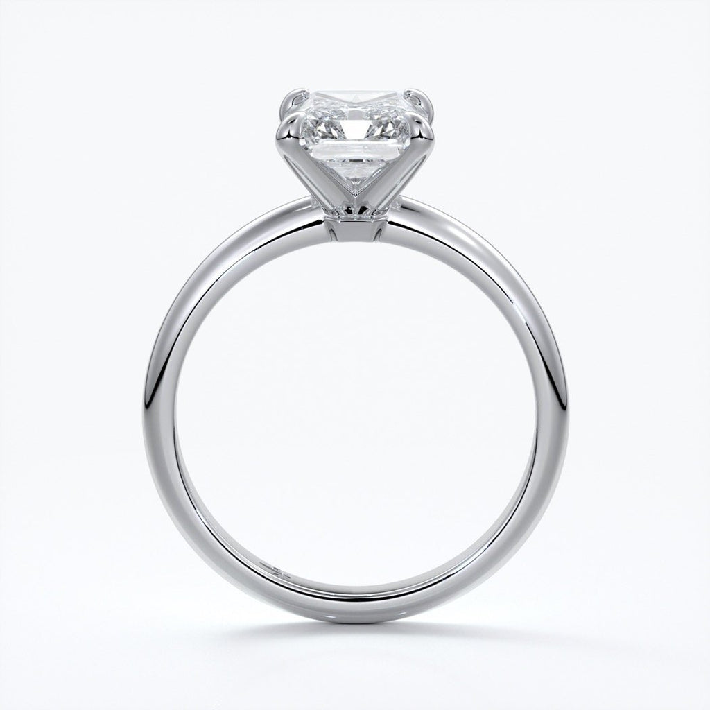 Eadie Engagement Ring radiant diamond halo 18ct white gold