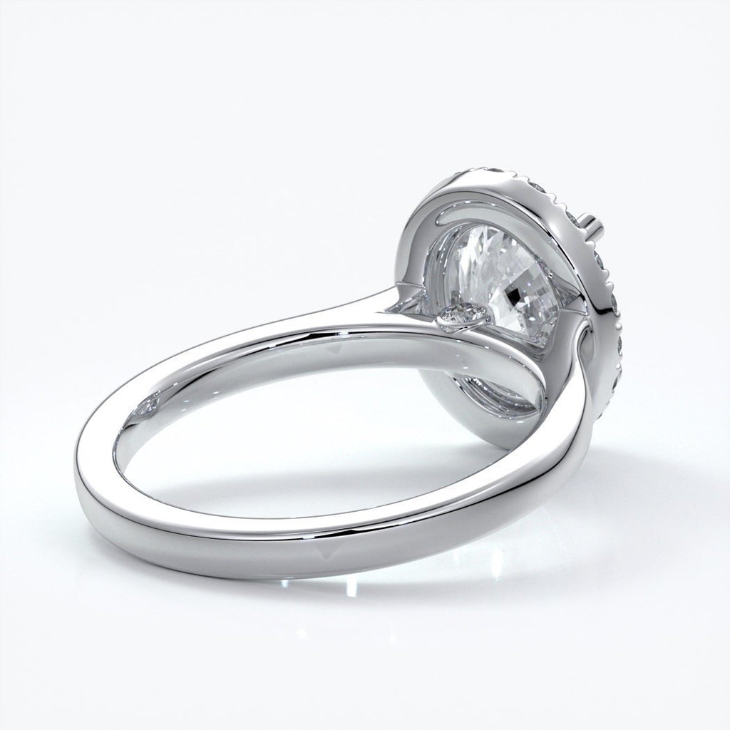 Maya Engagement Ring oval halo 18ct white gold