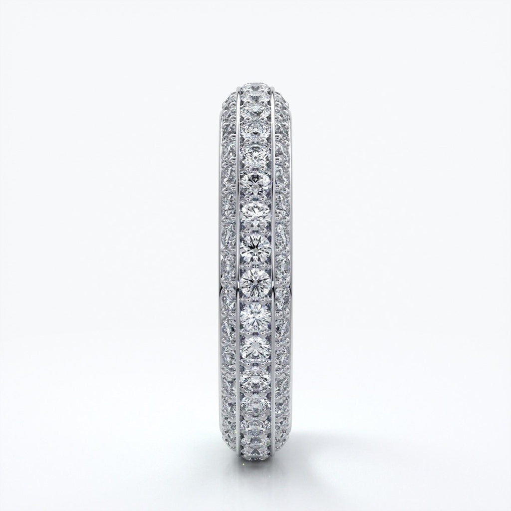 Natalie Wedding ring micro paved diamonds platinum