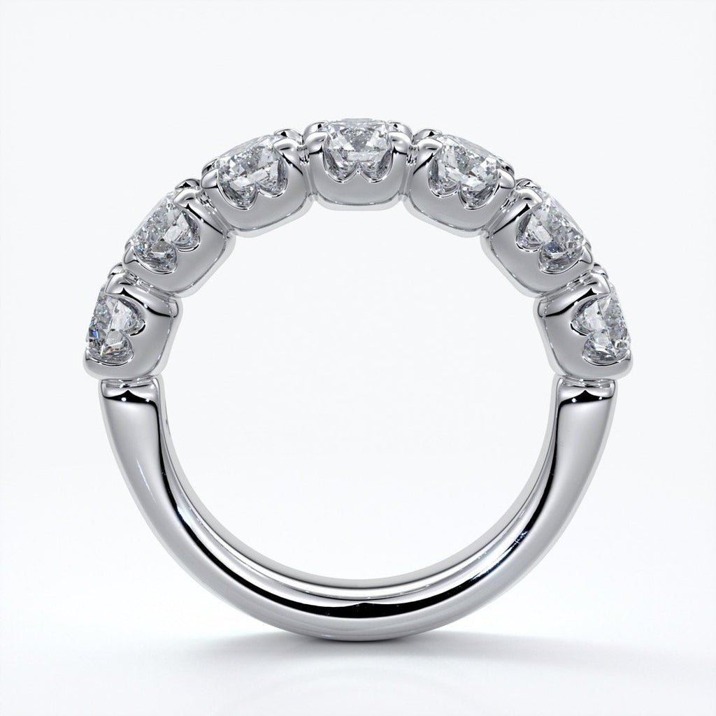 Renee Wedding ring round diamonds scalloped 18ct white gold