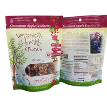 Load image into Gallery viewer, veronica's health crunch cinnamon apple cranberry flavor 6.5 oz bag