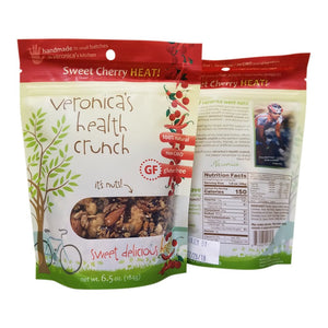 veronica's health crunch sweet cherry heat flavor in 6.5 oz bag