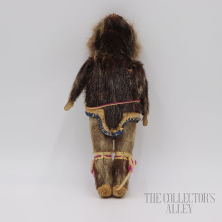 Eskimo Carved Wood Doll c.1910