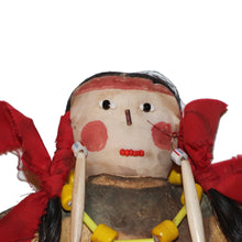 Load image into Gallery viewer, Original Pueblo Painted Doll with Blanket c.1870