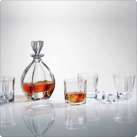 Laguna Crystal Whiskey Decanter Set