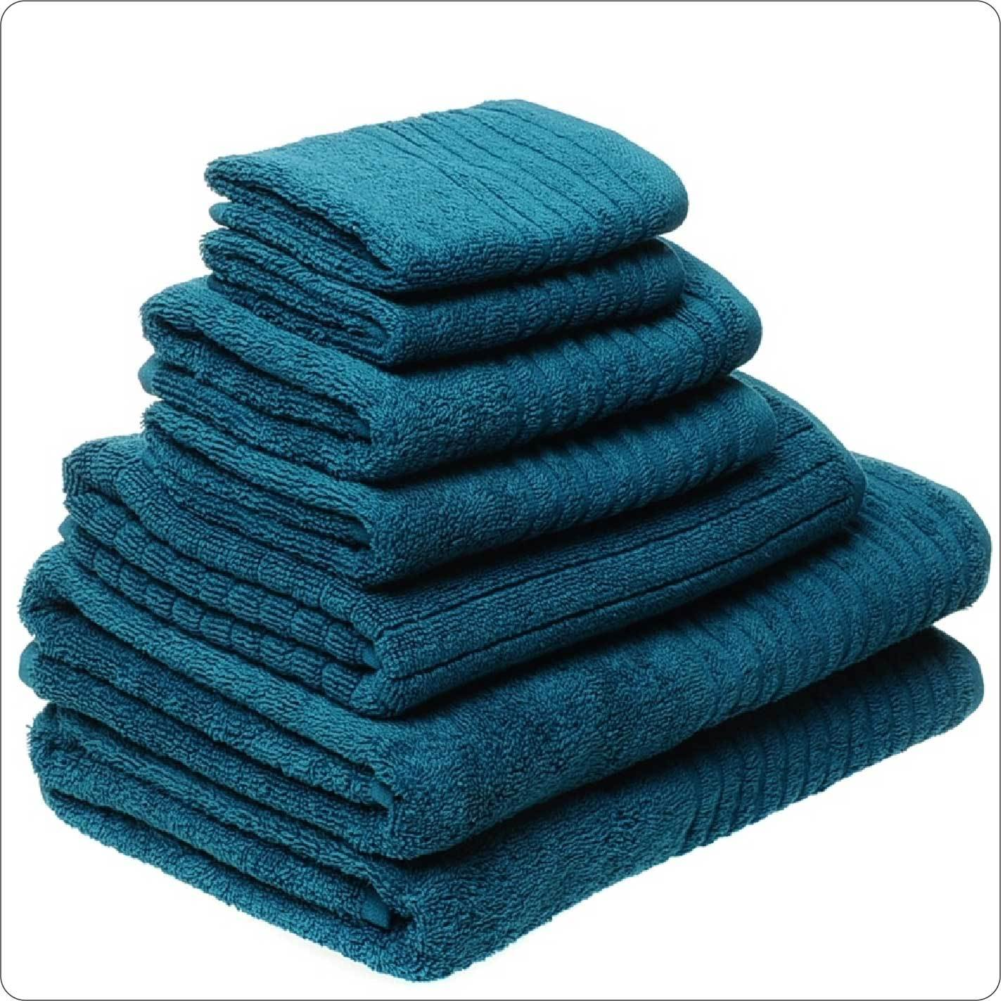 Organic Cotton Towel 7-Piece Set MARINE COLOUR