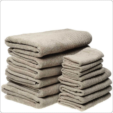 Luxury cotton Towel Pack 14-Pieces TAUPE COLOUR