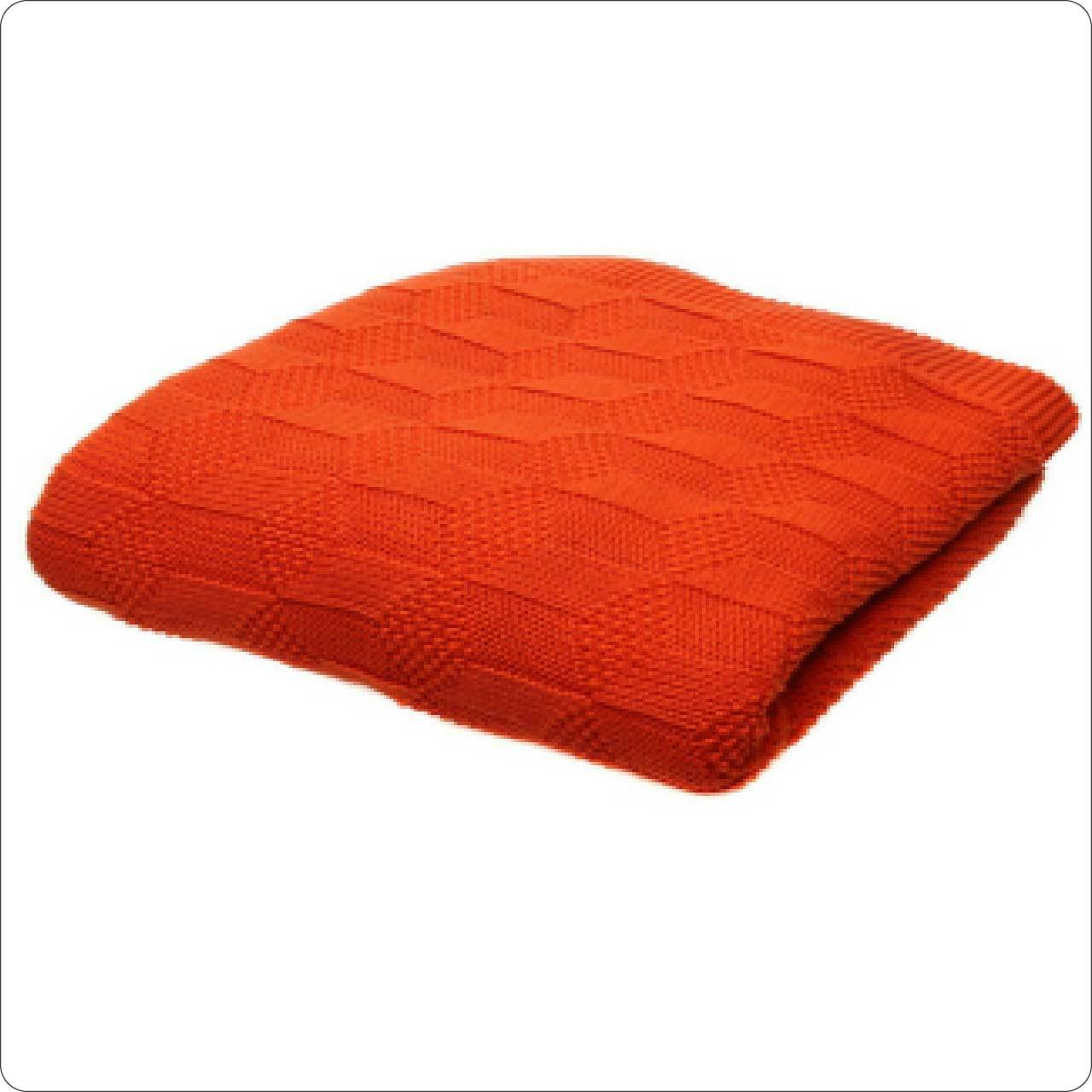 Luxury Cotton Cable Knit Throw 125x150cm/130x180cm Coral
