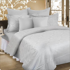 King Bed Quilt cover set SILVER