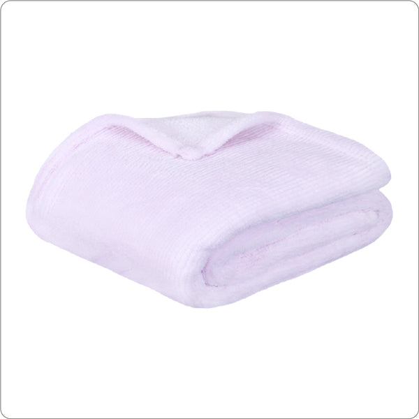 Frosted Plush Throw 127x152cm PINK